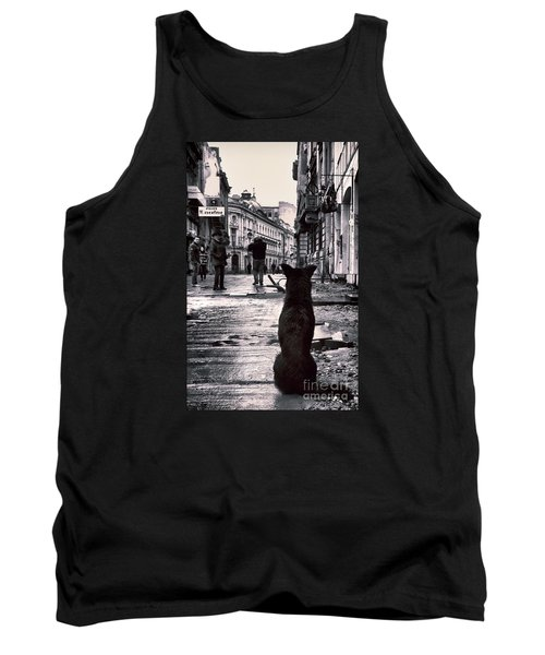 City Streets And The Theory Of Waiting Tank Top