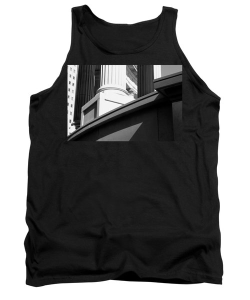 Classical Architectural Columns Black White Tank Top
