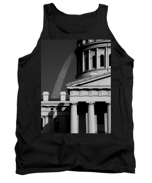 Classical Courthouse Arch Black White Tank Top