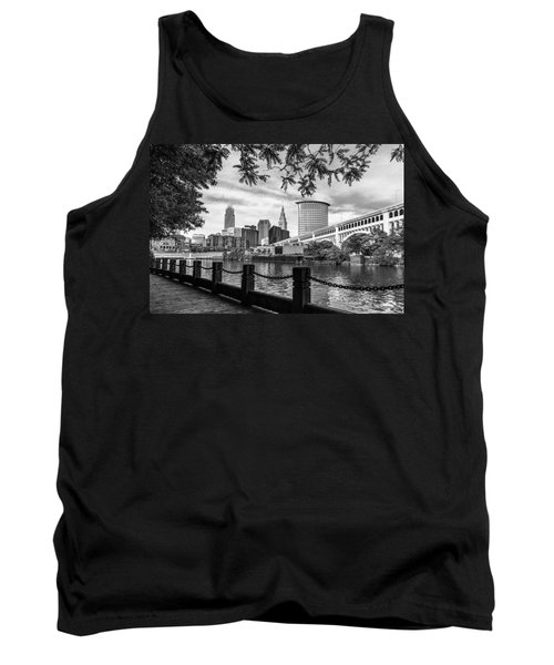 Cleveland River Cityscape Tank Top