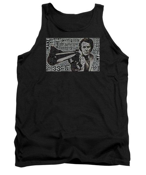 Clint Eastwood Dirty Harry Tank Top by Tony Rubino