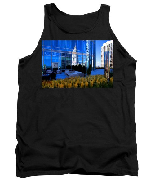Clock Tower Reflection Tank Top
