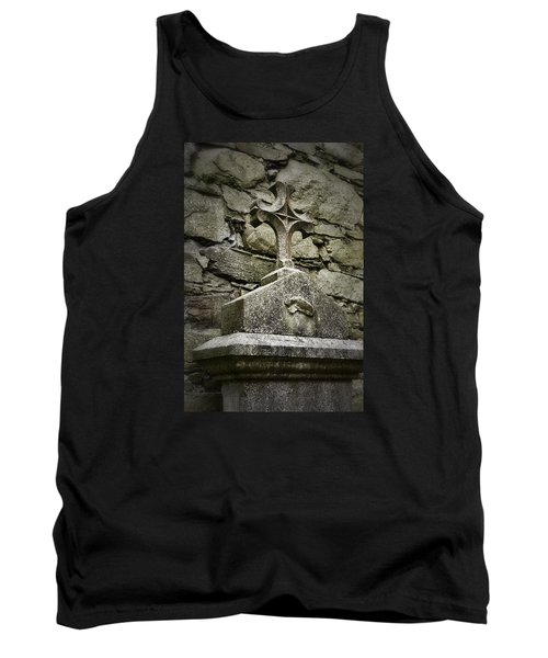 Cloister Cross At Jerpoint Abbey Tank Top by Nadalyn Larsen
