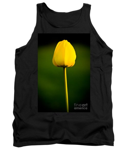 Closed Yellow Flower Tank Top