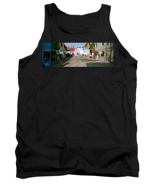 Clothesline In A Street, Burano Tank Top