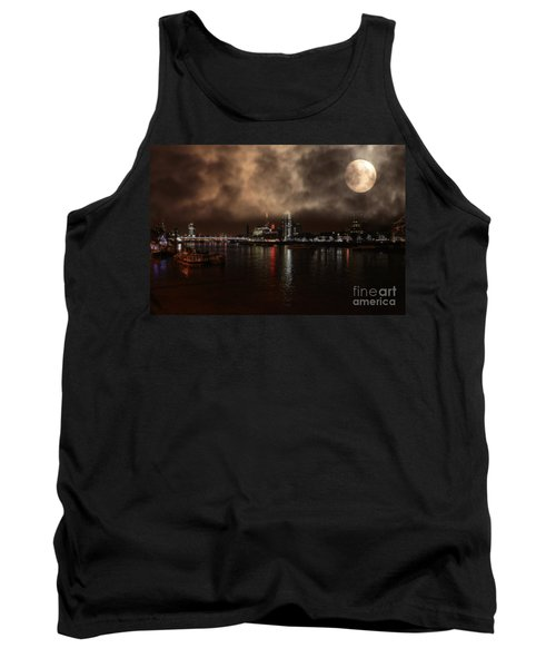 Clouds Over The River Thames Tank Top by Doc Braham