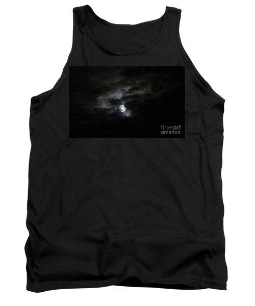Night Time Cloudy Dark Moon Tank Top