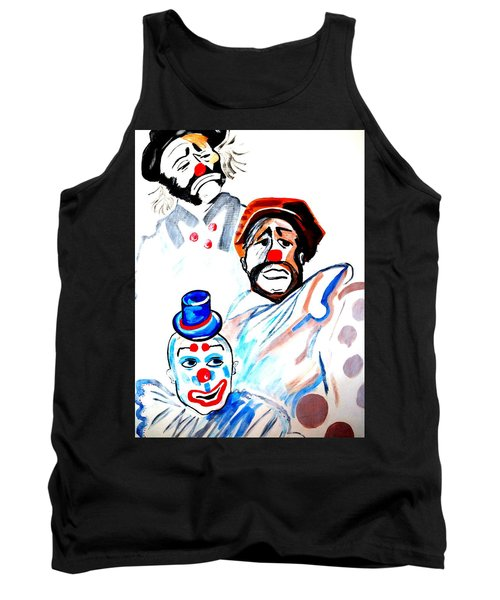 Tank Top featuring the painting Clowns In Heaven by Nora Shepley