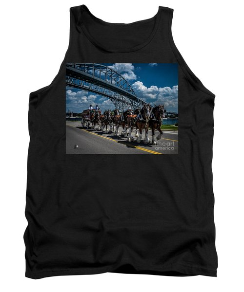 Clydesdales And Blue Water Bridges Tank Top