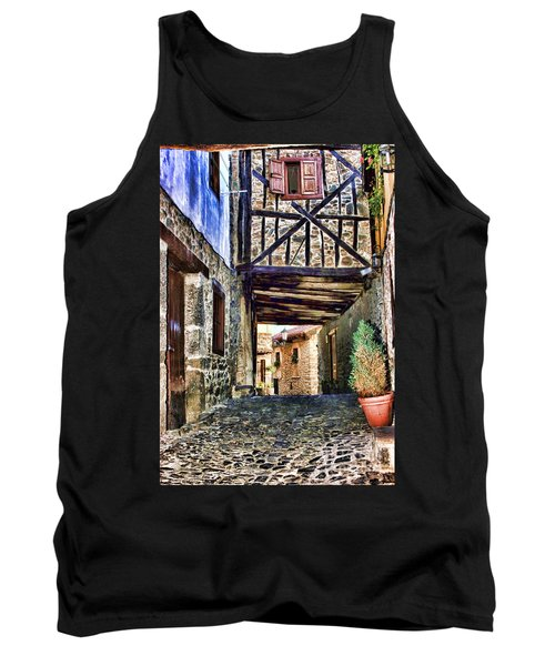 Cobble Streets Of Potes Spain By Diana Sainz Tank Top