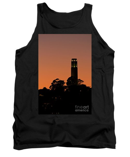 Tank Top featuring the photograph Coit Tower Sunset by Kate Brown