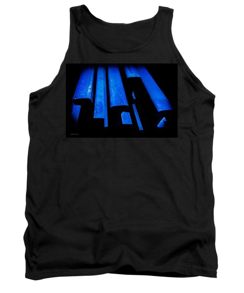 Tank Top featuring the photograph Cold Blue Steel by Steven Milner