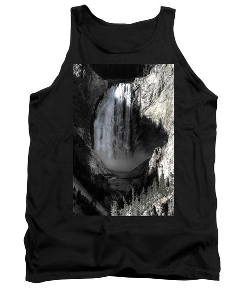 Tank Top featuring the photograph Cold Cascade  by David Andersen