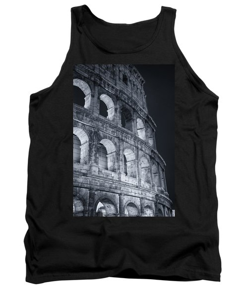 Tank Top featuring the photograph Colosseum Before Dawn by Joan Carroll