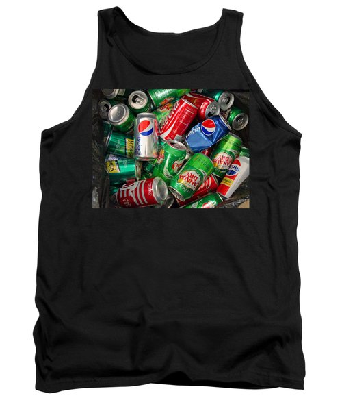 Collection Of Cans 02 Tank Top by Andy Lawless