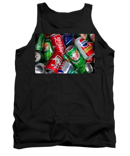 Collection Of Cans 04 Tank Top by Andy Lawless