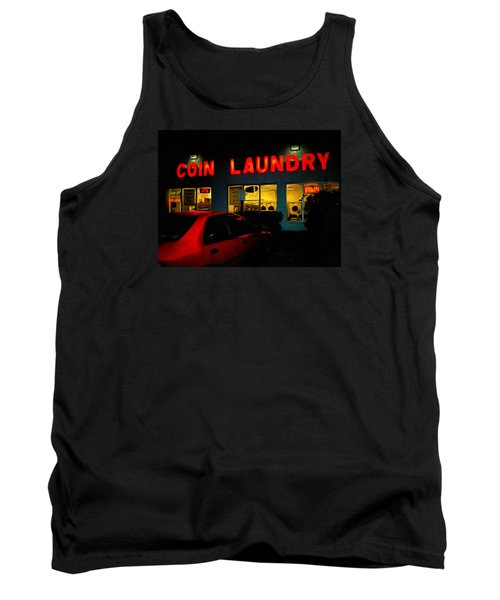 Tank Top featuring the photograph College Town Saturday Night by MJ Olsen