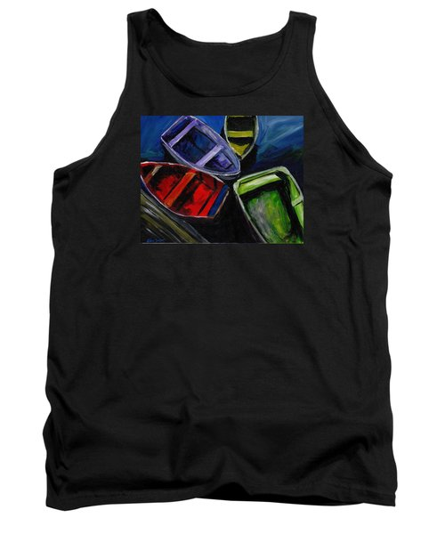Colliding Skiffs Tank Top