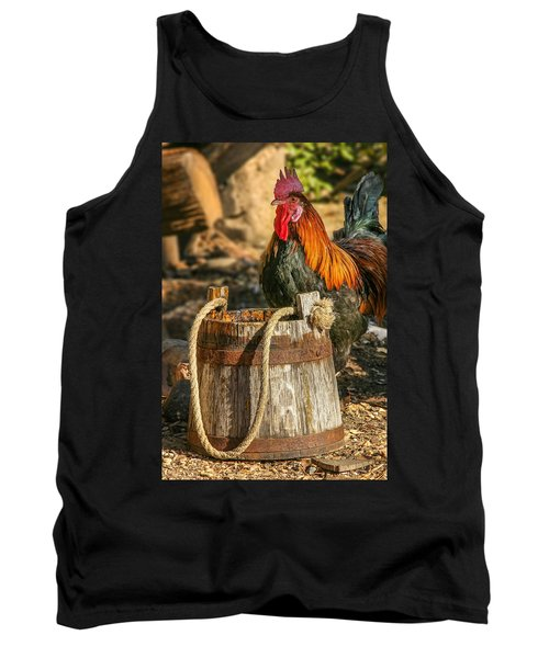 Coloful Rooster 2 Tank Top