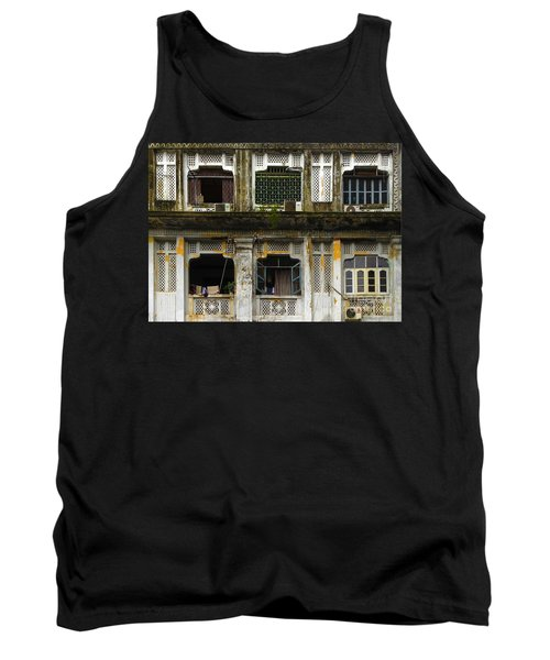 Colonial Facade Bo Soon Pat Street 8th Ward Central Yangon Burma Tank Top