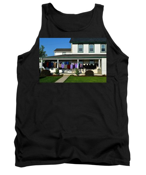 Colorful Amish Laundry On Porch Tank Top