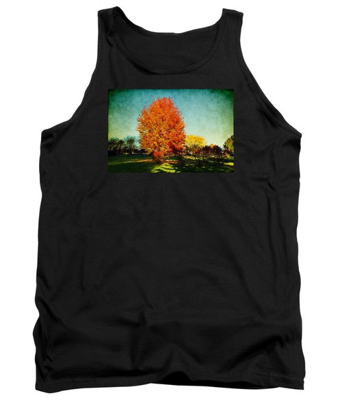 Colorful Autumn Tank Top by Milena Ilieva