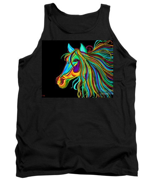 Colorful Horse Head 2 Tank Top by Nick Gustafson
