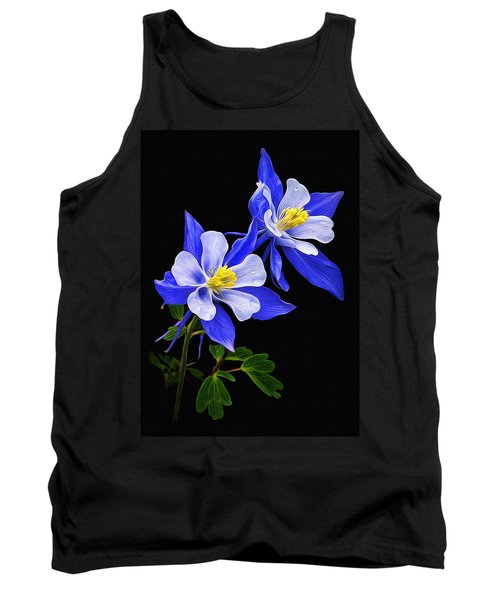 Tank Top featuring the photograph Columbine Duet by Priscilla Burgers