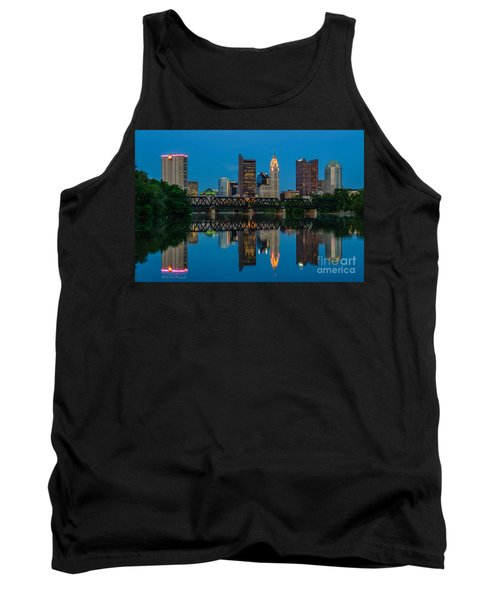 Columbus Ohio Night Skyline Photo Tank Top