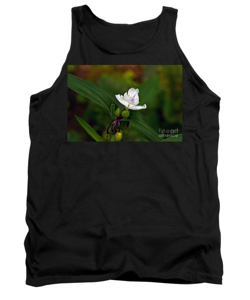 Come Into My Parlor Said The Spiderwort To The Hoverfly Tank Top