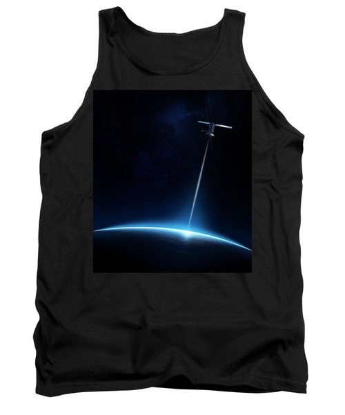 Communication Between Satellite And Earth Tank Top