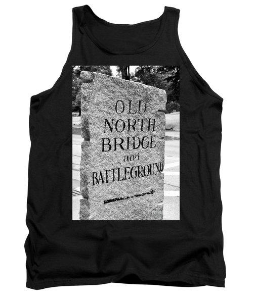 Concord Ma Old North Bridge Marker Black And White Tank Top