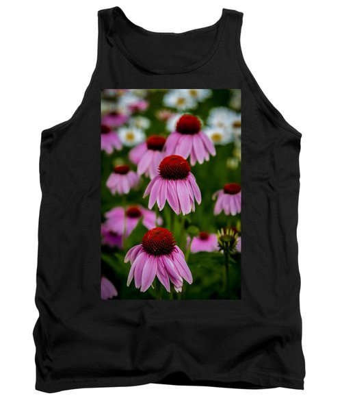 Coneflowers In Front Of Daisies Tank Top