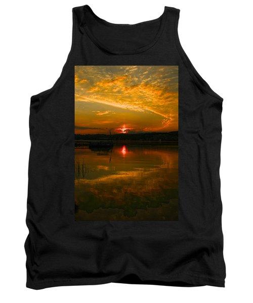 Conesus Sunrise Tank Top by Richard Engelbrecht