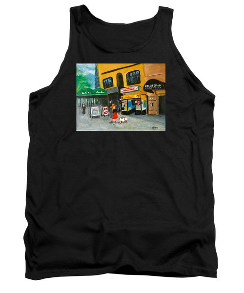 Tank Top featuring the painting Connecticut Avenue Dc by Victoria Lakes
