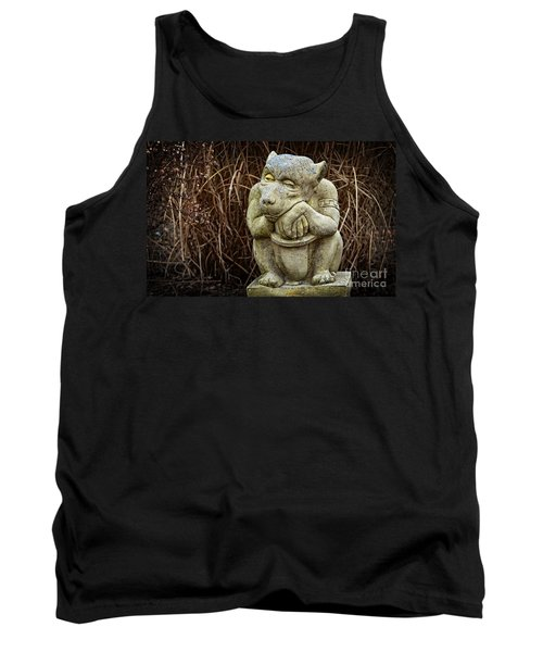 Contemplating Autumn Tank Top by Mary Machare