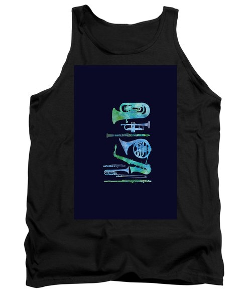 Cool Blue Band Tank Top