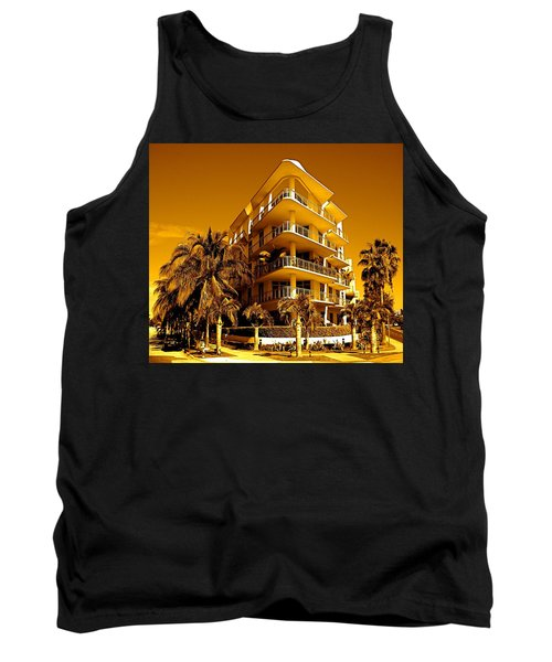 Cool Iron Building In Miami Tank Top