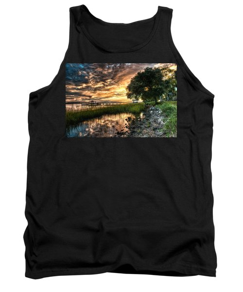 Coosaw Plantation Sunset Tank Top