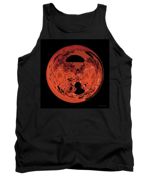 Copper Disk Abstract Tank Top