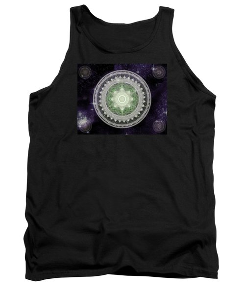 Cosmic Medallions Earth Tank Top by Shawn Dall