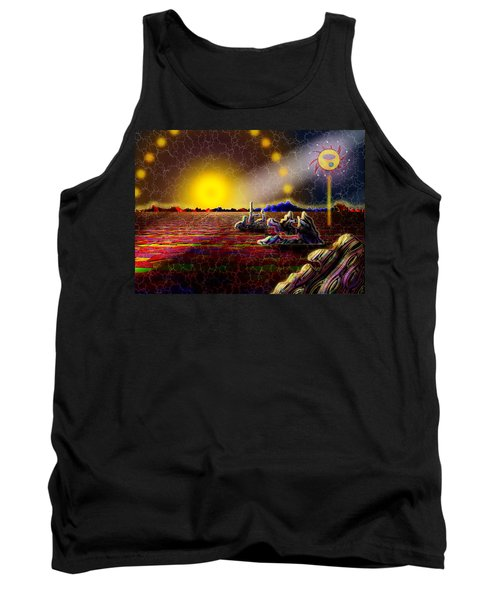 Cosmic Signpost Tank Top by Melinda Fawver