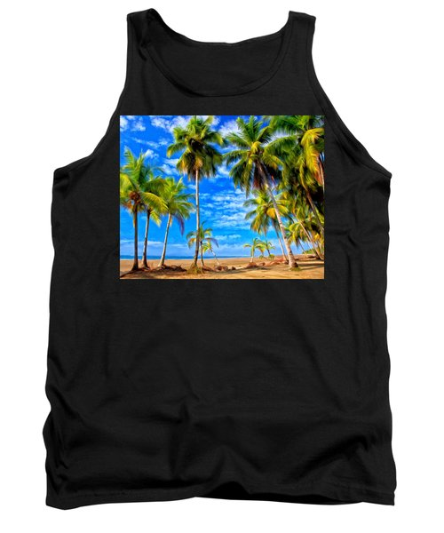 Tank Top featuring the painting Costa Rican Paradise by Michael Pickett