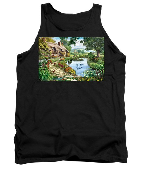 Cottage By The Lake Tank Top