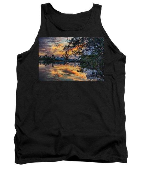 Tank Top featuring the digital art Cotton Bayou Sunrise by Michael Thomas