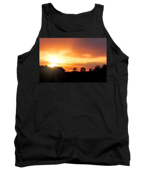 Country Sunset Silhouette Tank Top