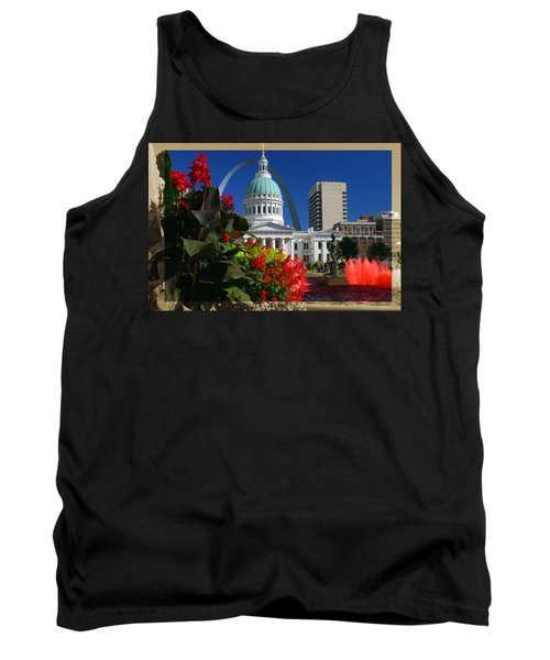 Courthouse Arch Skyline Fountain Tank Top