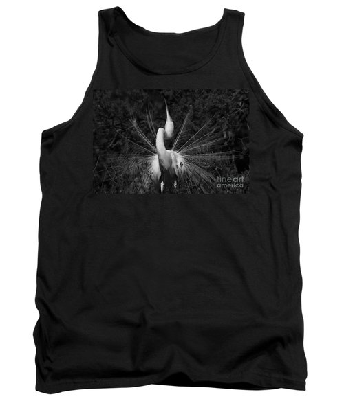 Tank Top featuring the photograph Great Egret Courtship Plumes  by John F Tsumas
