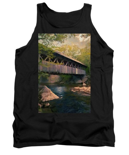 Tank Top featuring the painting Covered Bridge by Jeff Kolker