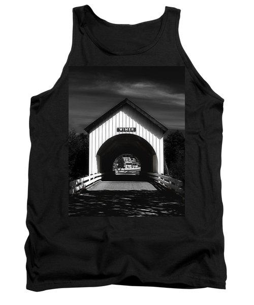 Covered Bridge Tank Top by Melanie Lankford Photography